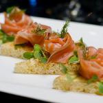Smoked salmon on brioche toast