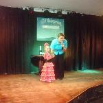 my daughter on stage