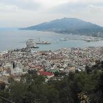 zante town from the city balcony
