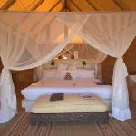 One of the luxurious tents at Garonga