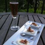 Foie gras with Parsnip Mousse, and champagne...our sunset's accessories