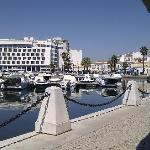 Hotel Eva from the other side of the marina