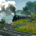 'The Fellsman' Steam train coming through Horton Station