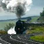 'The Fellsman' Steam train passing through Horton Station
