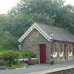 The quait beautifully restored waiting room at Horton-in-Ribblesdale Station