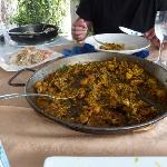 Paella that comes with the Ibiza Bullit