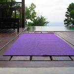 My morning yoga in the villa