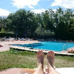 my toes and the pool !
