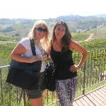 Me and Barbara, our guide at the Tuscan Vineyard