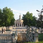 la iglesia vista desde parterre gardens