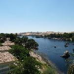 vue sur le Nil et l'île aux fleurs