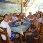 un diner au resto de la plage