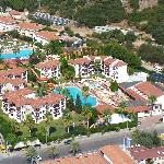 Hotel Alize from the air (orange water shute)