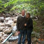 Hiking up near the dam