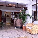 Lounge at the front of the hotel