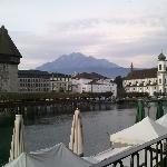 View of Pilatus from hotel window