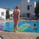 Having fun round the pool