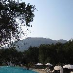 Mountain view from the pool area