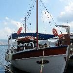 The boat to Spinalonga