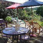 Repas sur la terrasse