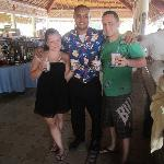 With Irwin Martinez the best bar man and our dirty monkey