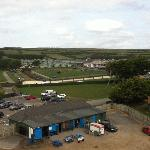 Looking out over towards the main site where the caravans are
