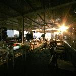 The restaurant and bar area