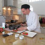 Ian at work in the kitchen