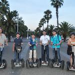 Our group on Segways along the Barcelona coastline