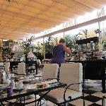 Buffet breakfast area in conservatory!