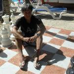 Con el gran tablero de ajedrez!!!