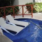 """Our """"private"""" pool area"""