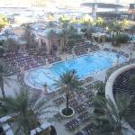 view from our room of the pool