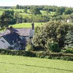 Plas Efenechtyd Cottage from the hill