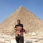 At pyramid giza