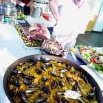 Delicious paella (and roast beef) - yum!