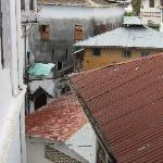 view from our room of stone town