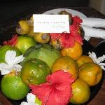fruit awaiting us upon arrival