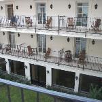 Blick auf den Innenhof(Die Balkons)