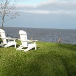A wonderful spot to relax and read, feet from the cottage