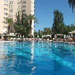 View from the middle of the pool
