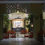 Entrance to hotel reception lobby area