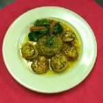 Pan seared day boat scallops with Caribbean mango sauce