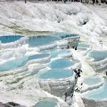 Pamukkale blue terraces