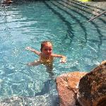 Daughter enjoying the pool