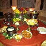 Chocolate, Peanut Butter and Cheese Fondue for our PJ Bachlorette Party that the owners put on f