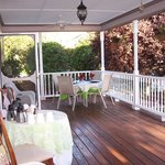 Several porches to relax & unwind