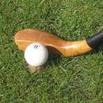 1880's club and ball with sand tee.