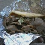 The regular size gyro! (Can you imagine the large!?!?)