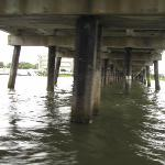 Under the bridge to Folly Beach